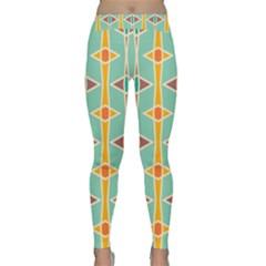 Rhombus pattern in retro colors  Yoga Leggings