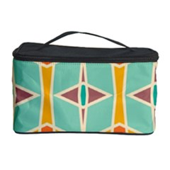 Rhombus Pattern In Retro Colors  Cosmetic Storage Case