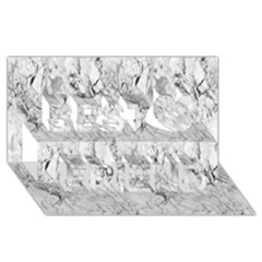 White Marble Best Friends 3D Greeting Card (8x4)