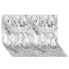 White Marble BEST BRO 3D Greeting Card (8x4)
