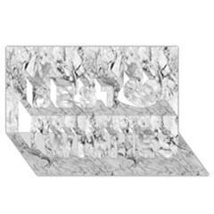 White Marble Best Wish 3D Greeting Card (8x4)