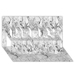 White Marble Merry Xmas 3D Greeting Card (8x4)
