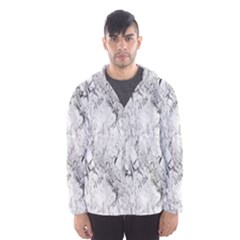 White Marble Hooded Wind Breaker (Men)