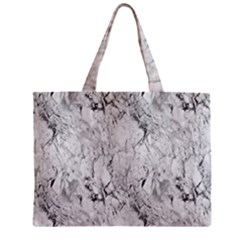 White Marble Zipper Tiny Tote Bags