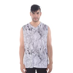 White Marble Men s Basketball Tank Top