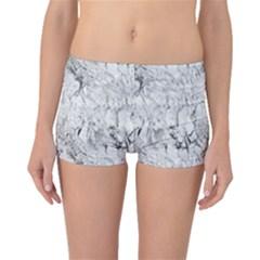 White Marble Boyleg Bikini Bottoms