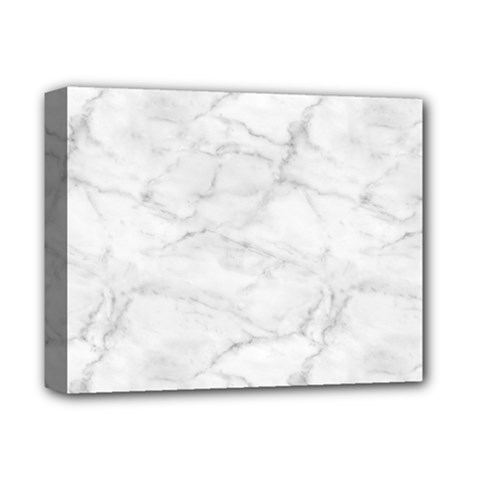 White Marble 2 Deluxe Canvas 14  x 11