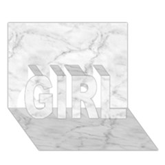White Marble 2 GIRL 3D Greeting Card (7x5)