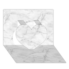 White Marble 2 Heart 3d Greeting Card (7x5)