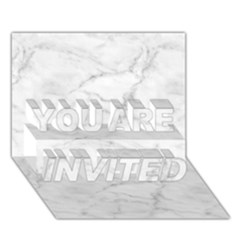 White Marble 2 YOU ARE INVITED 3D Greeting Card (7x5)