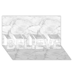 White Marble 2 Believe 3d Greeting Card (8x4)
