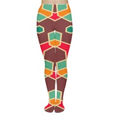 Distorted Shapes In Retro Colors Tights