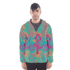 Fading Circles Mesh Lined Wind Breaker (men)
