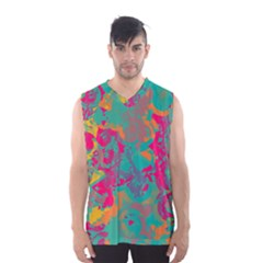 Fading circles Men s Basketball Tank Top