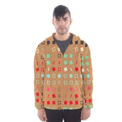 Squares on a brown background Mesh Lined Wind Breaker (Men)