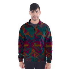 Geometric Shapes In Retro Colors Wind Breaker (men)