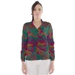 Geometric shapes in retro colors Wind Breaker (Women)