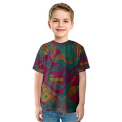 Geometric shapes in retro colors Kid s Sport Mesh Tee