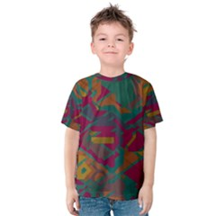 Geometric shapes in retro colors Kid s Cotton Tee