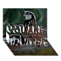 Bobwhite Quails You Are Invited 3d Greeting Card (7x5)