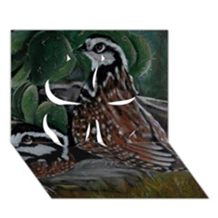 Bobwhite Quails Clover 3d Greeting Card (7x5)