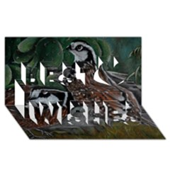 Bobwhite Quails Best Wish 3D Greeting Card (8x4)