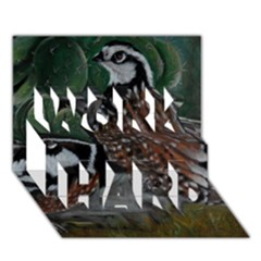 Bobwhite Quails WORK HARD 3D Greeting Card (7x5)