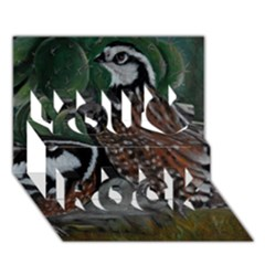 Bobwhite Quails You Rock 3D Greeting Card (7x5)