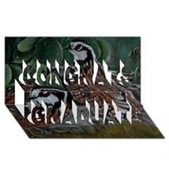 Bobwhite Quails Congrats Graduate 3D Greeting Card (8x4)
