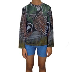 Bobwhite Quails Kid s Long Sleeve Swimwear