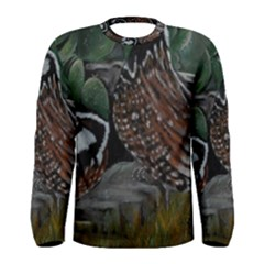 Bobwhite Quails Men s Long Sleeve T-shirts