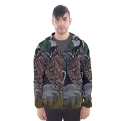 Bobwhite Quails Hooded Wind Breaker (Men)