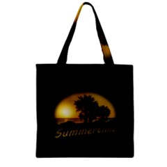 Sunset Scene at the Coast of Montevideo Uruguay Zipper Grocery Tote Bags