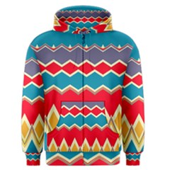 Chevrons and rhombus Men s Zipper Hoodie
