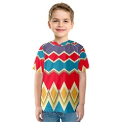 Chevrons and rhombus Kid s Sport Mesh Tee