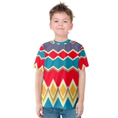 Chevrons and rhombus Kid s Cotton Tee