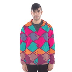 Pieces in retro colors Mesh Lined Wind Breaker (Men)