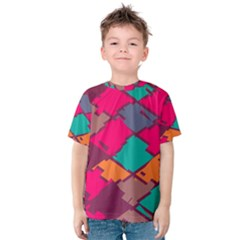 Pieces in retro colors Kid s Cotton Tee