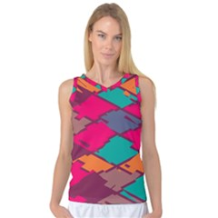 Pieces in retro colors Women s Basketball Tank Top