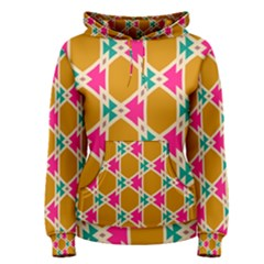 Connected Shapes Pattern Women s Pullover Hoodie