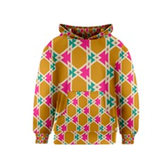 Connected shapes pattern Kid s Pullover Hoodie
