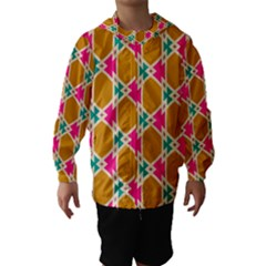 Connected shapes pattern Hooded Wind Breaker (Kids)