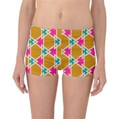 Connected Shapes Pattern Boyleg Bikini Bottoms