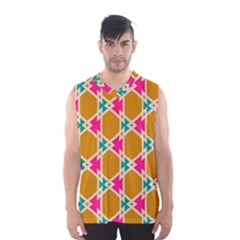 Connected shapes pattern Men s Basketball Tank Top