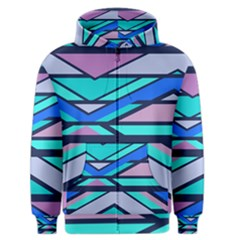Angles And Stripes Men s Zipper Hoodie