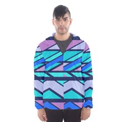 Angles and stripes Mesh Lined Wind Breaker (Men)