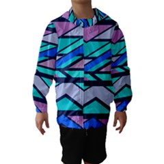 Angles and stripes Hooded Wind Breaker (Kids)