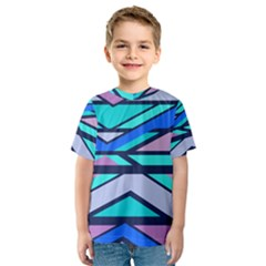 Angles and stripes Kid s Sport Mesh Tee