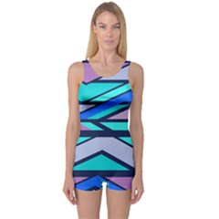 Angles and stripes Women s Boyleg One Piece Swimsuit