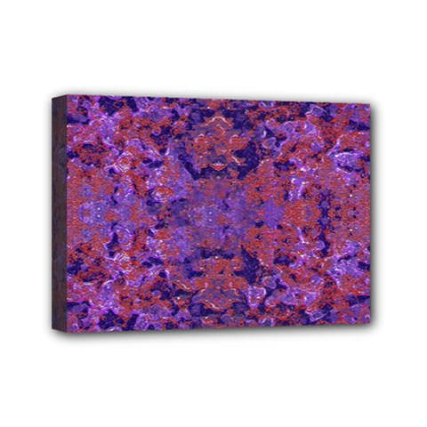 Intricate Patterned Textured  Mini Canvas 7  x 5